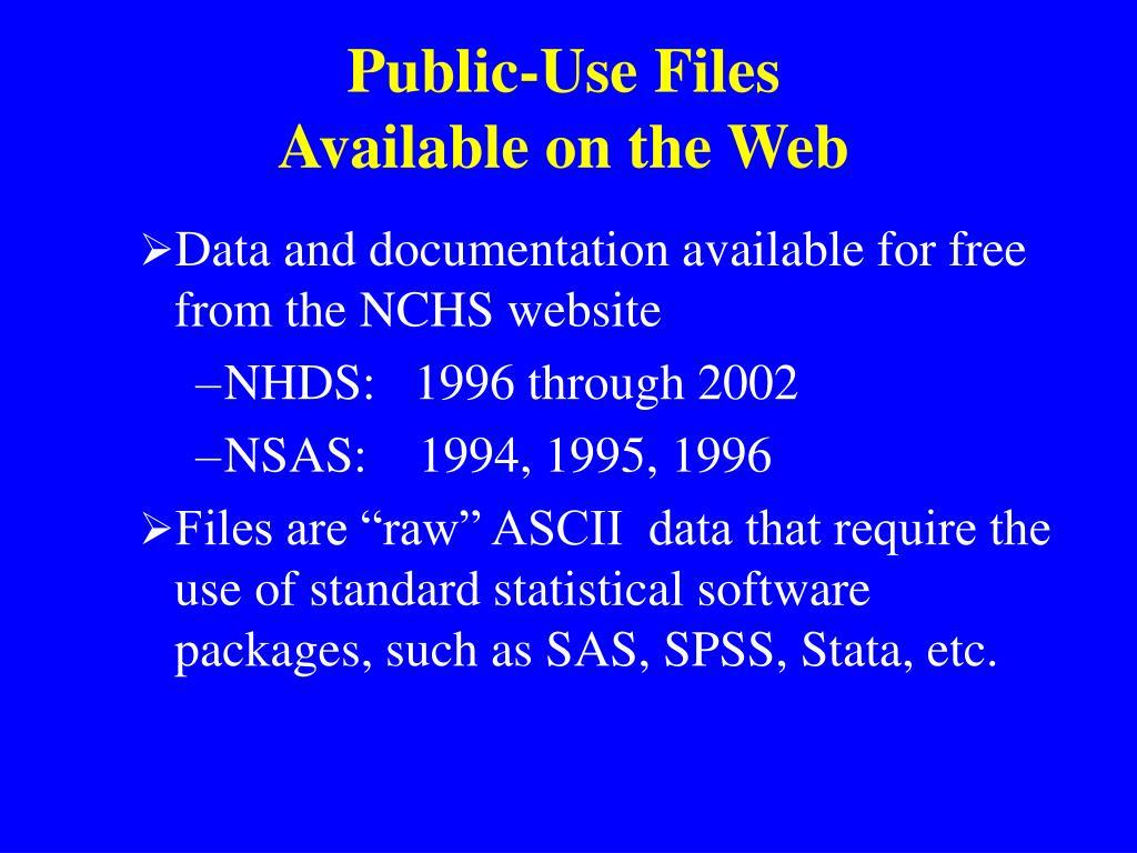 Public-Use Files
