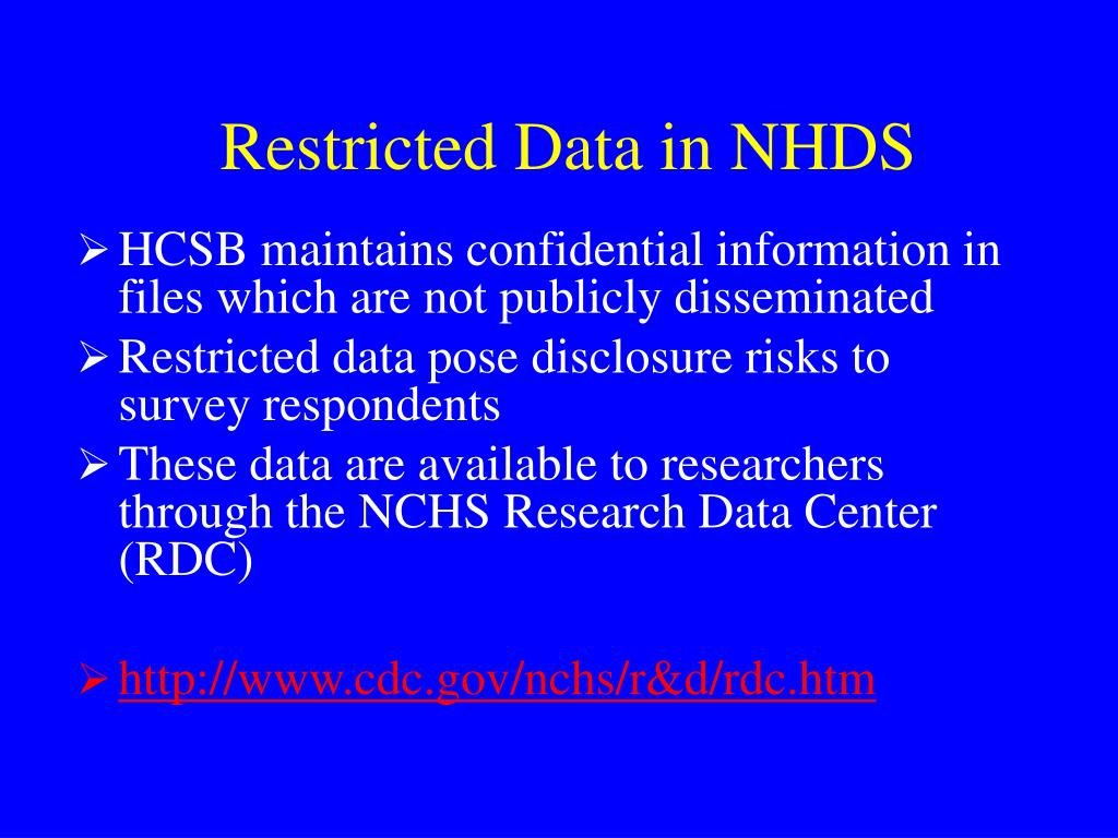 Restricted Data in NHDS