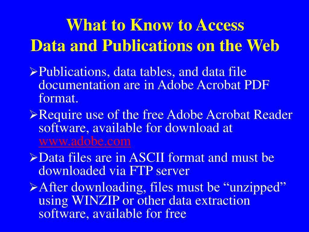What to Know to Access