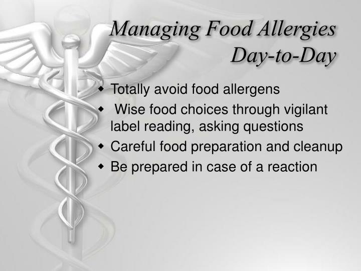 Managing Food Allergies Day-to-Day