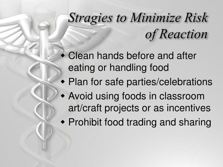 Stragies to Minimize Risk of Reaction