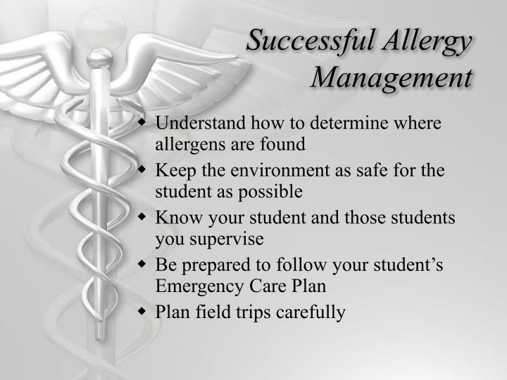 Successful Allergy Management