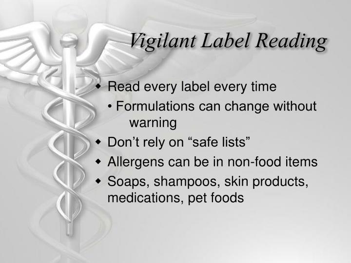 Vigilant Label Reading