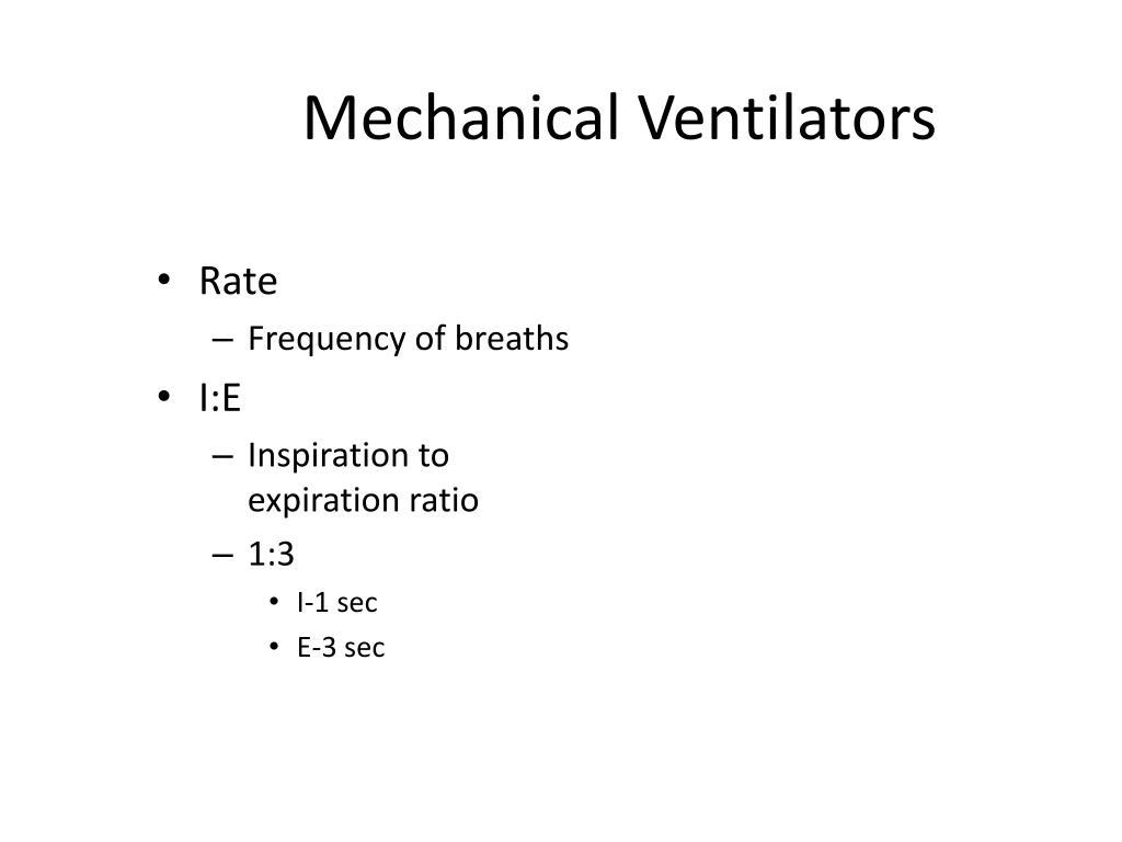 Mechanical Ventilators