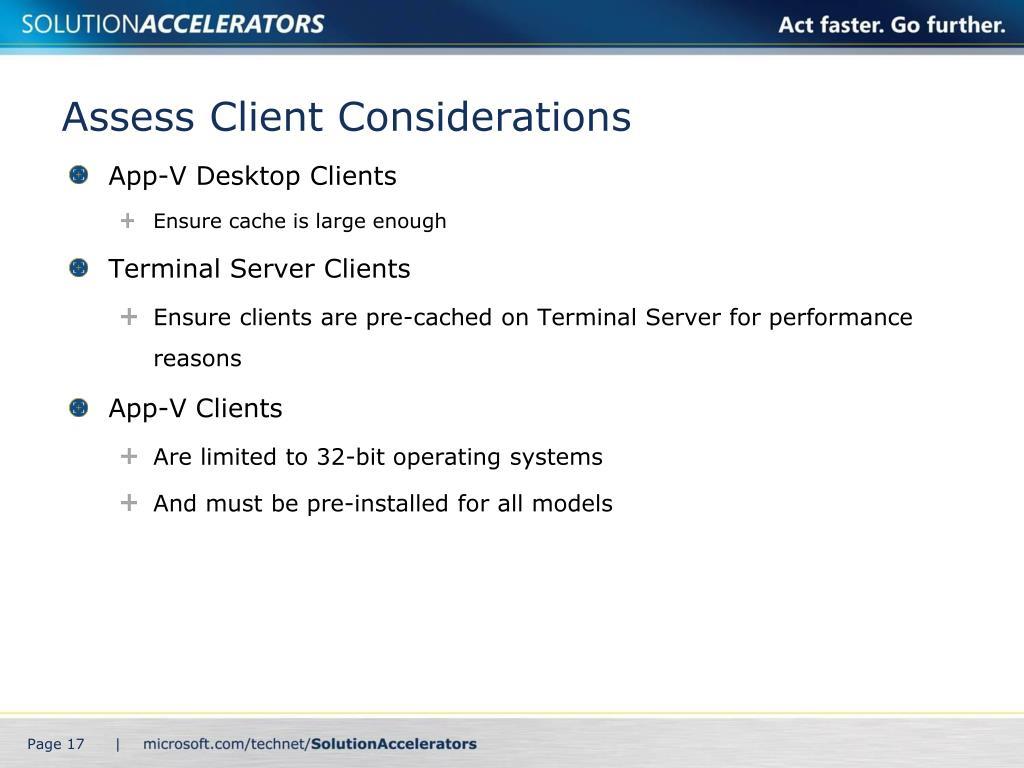 Assess Client Considerations