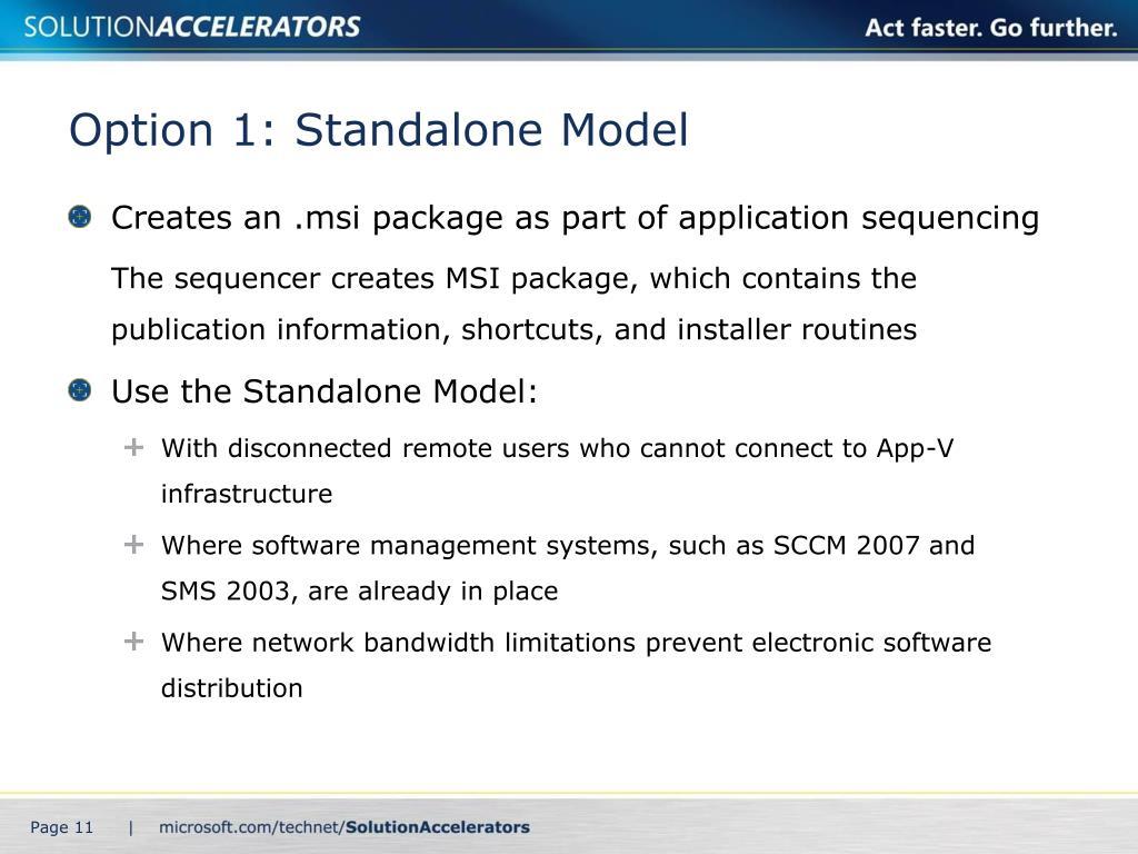 Option 1: Standalone Model