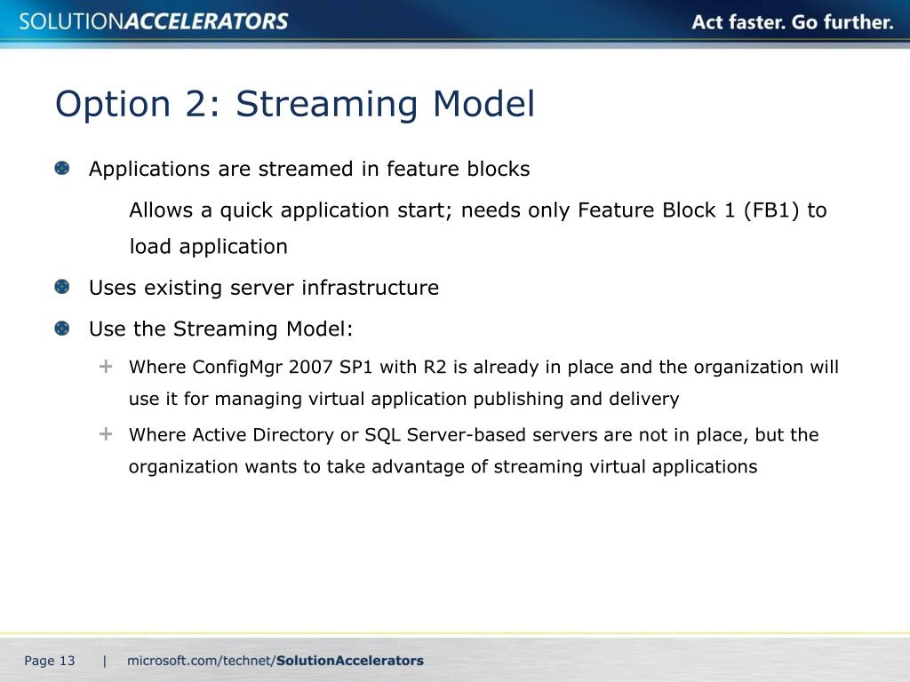 Option 2: Streaming Model