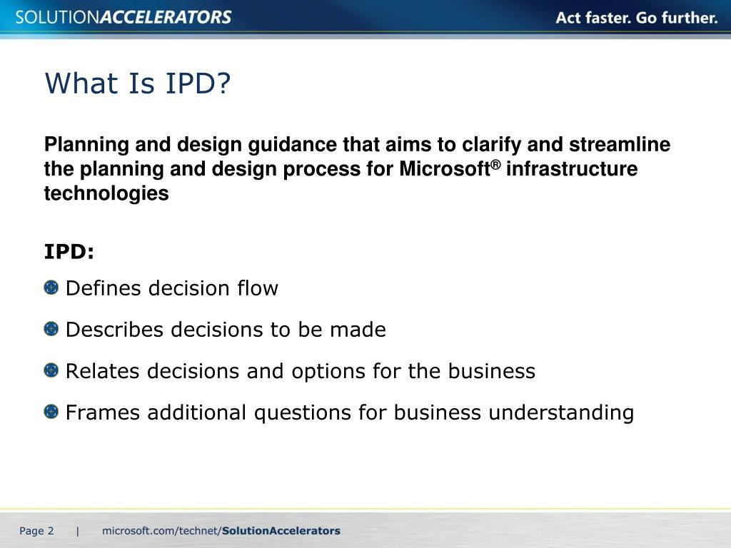 What Is IPD?