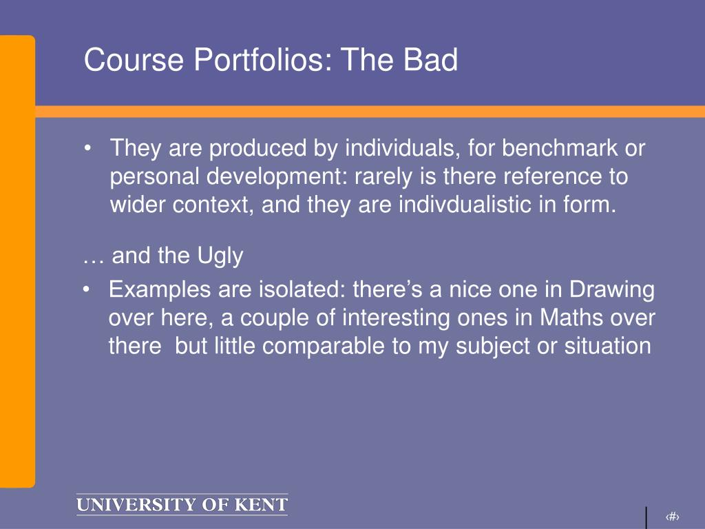 Course Portfolios: The Bad