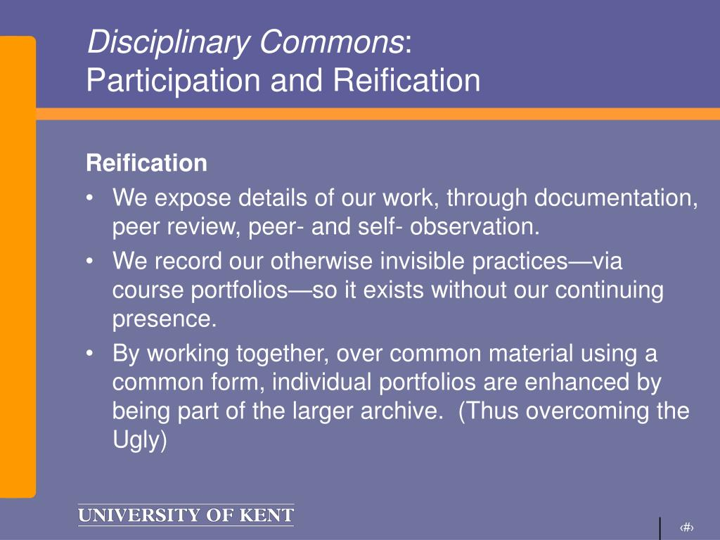 Disciplinary Commons