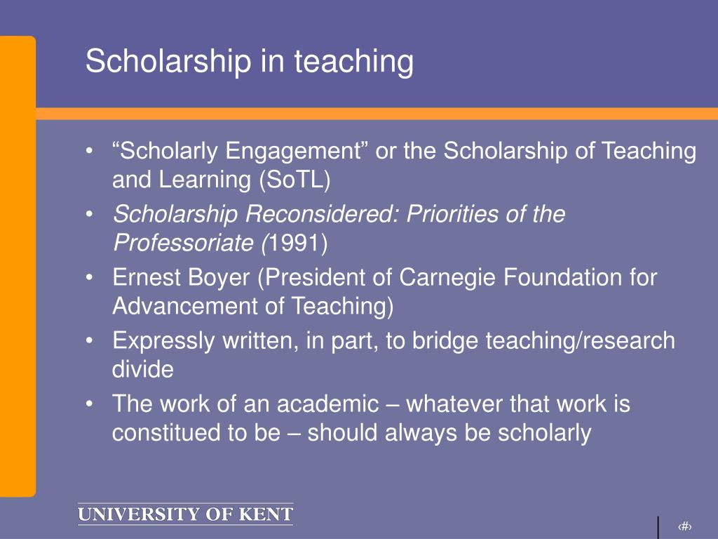 Scholarship in teaching