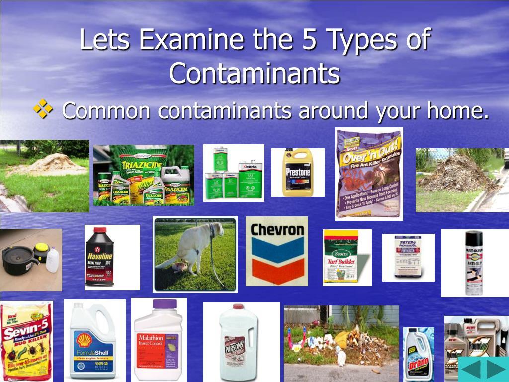 Lets Examine the 5 Types of Contaminants
