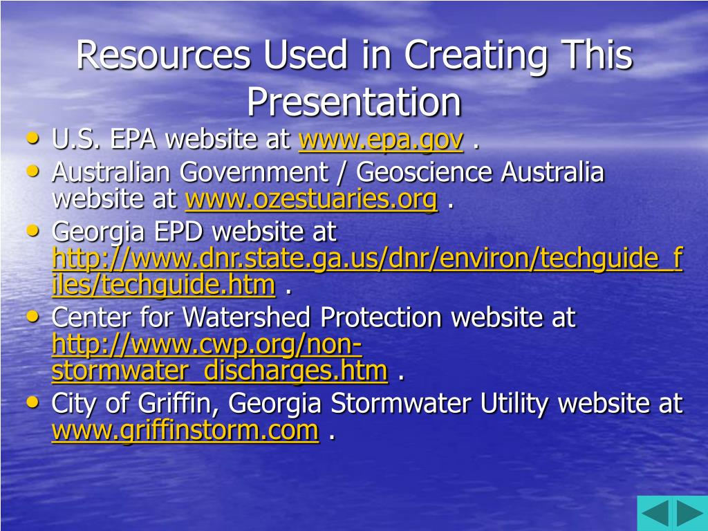 Resources Used in Creating This Presentation