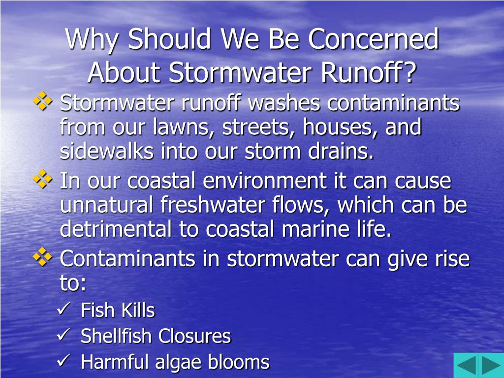 Why Should We Be Concerned About Stormwater Runoff?