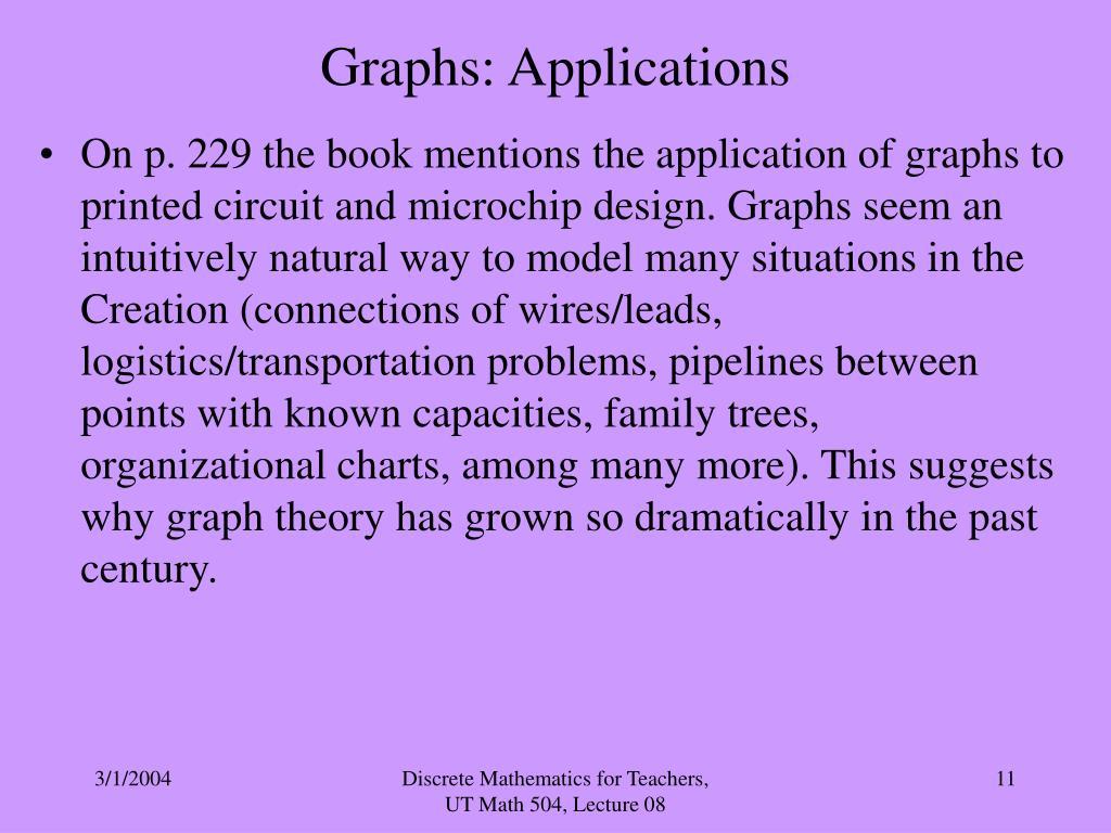 Graphs: Applications