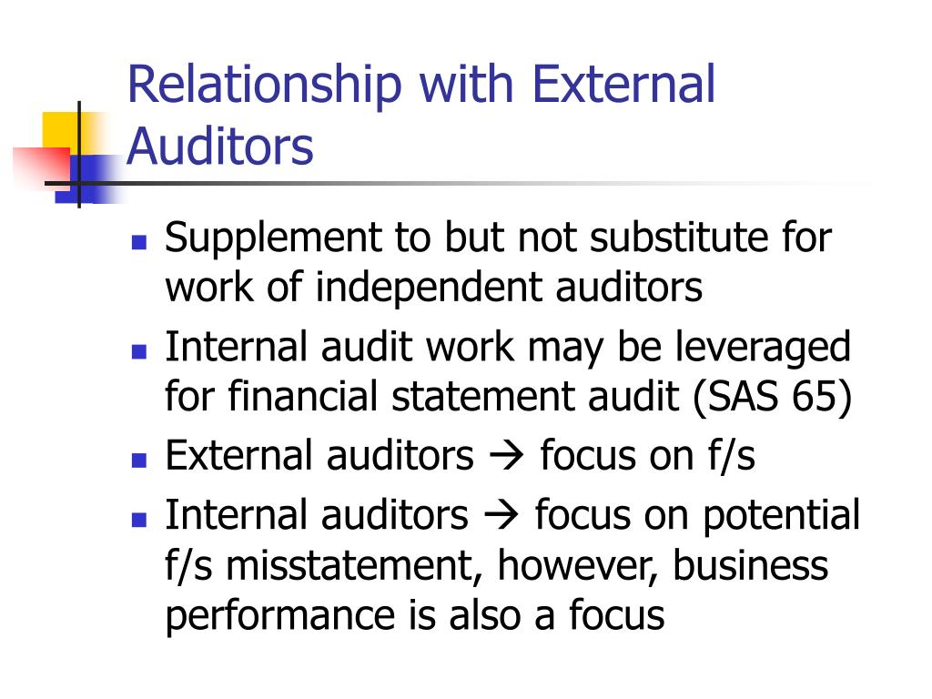 Relationship with External Auditors