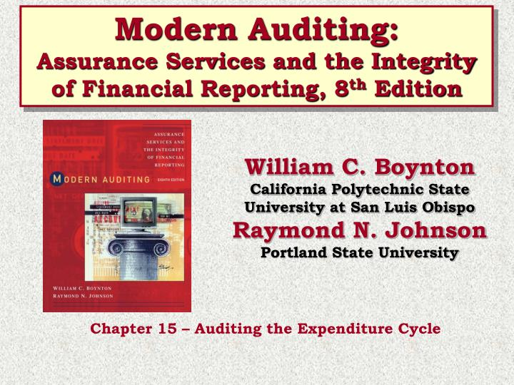 Modern Auditing: