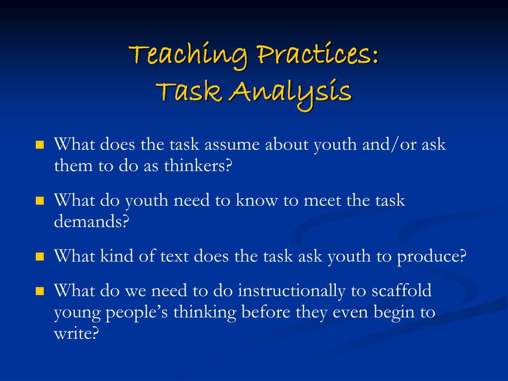 Teaching Practices: