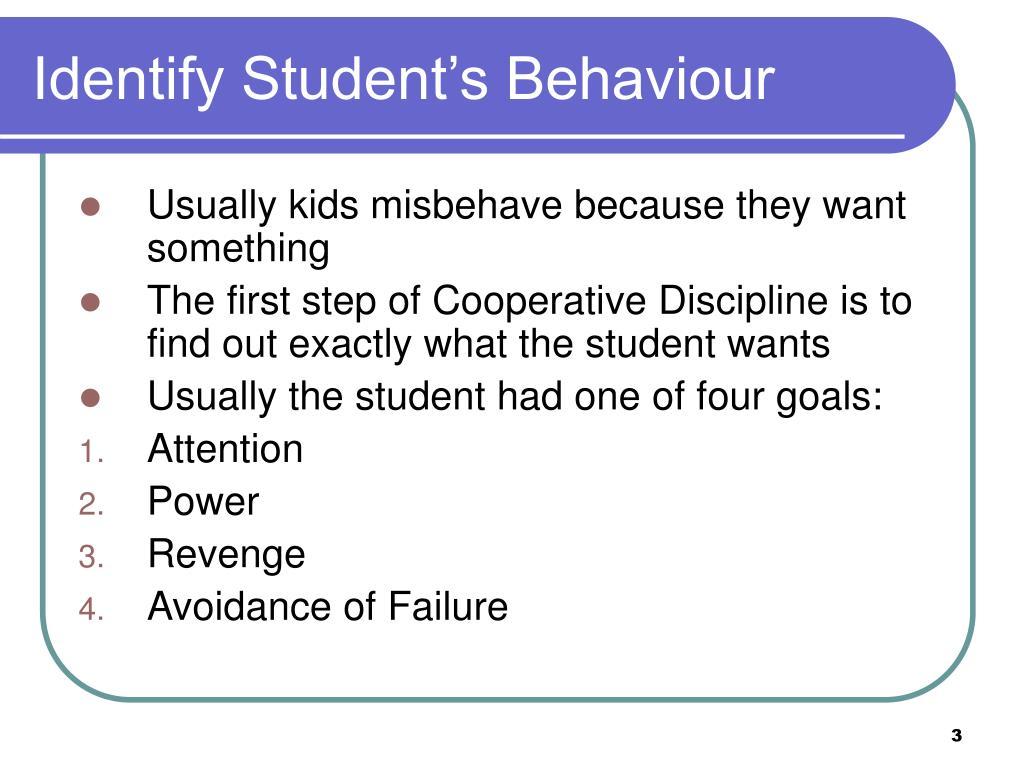 Identify Student's Behaviour