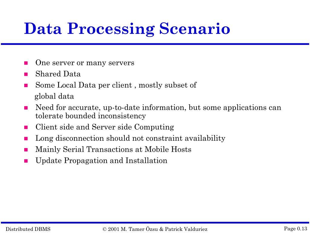 Data Processing Scenario