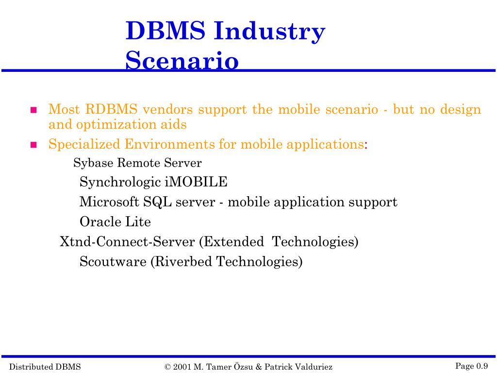 DBMS Industry Scenario