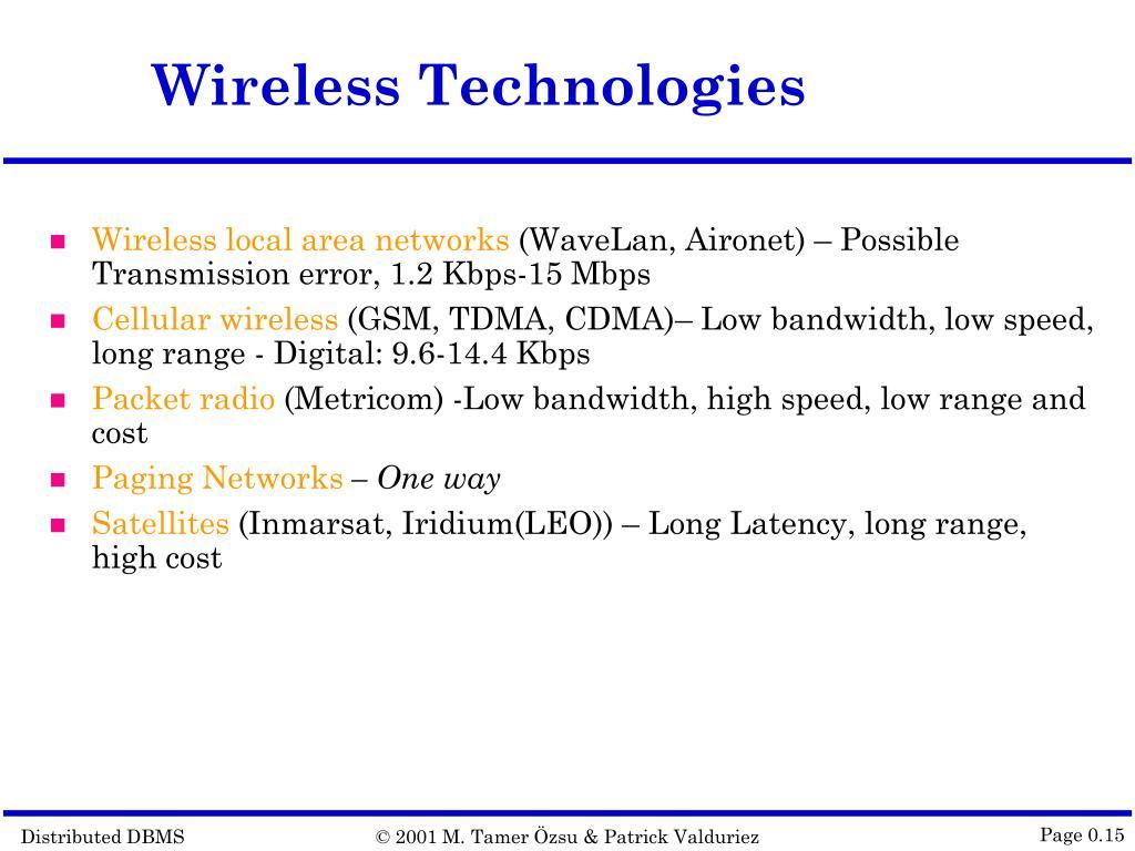 Wireless Technologies
