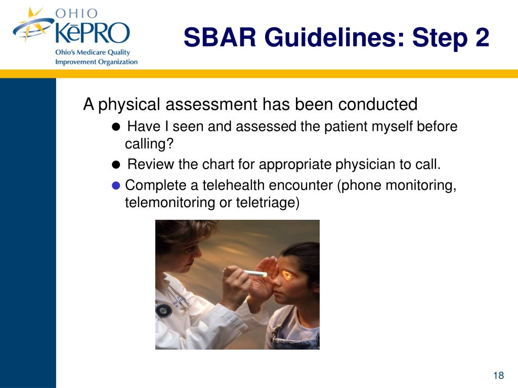 SBAR Guidelines: Step 2