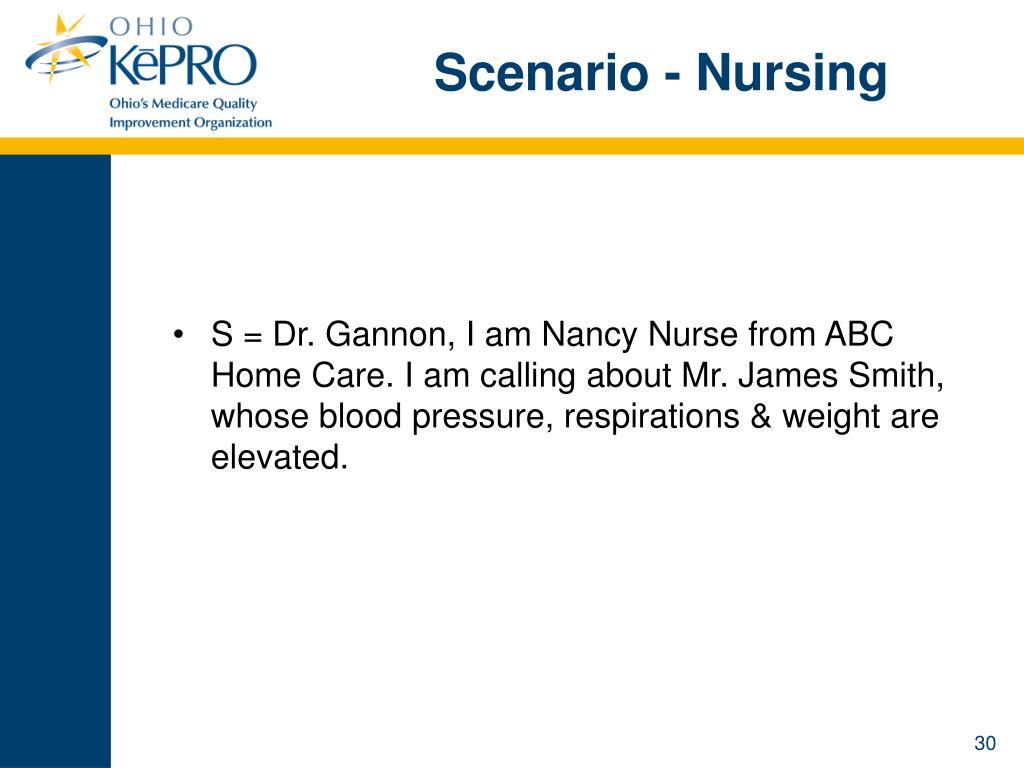 Scenario - Nursing