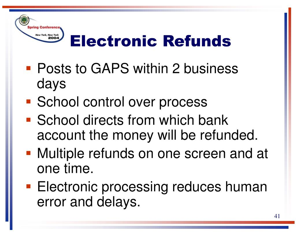 Electronic Refunds