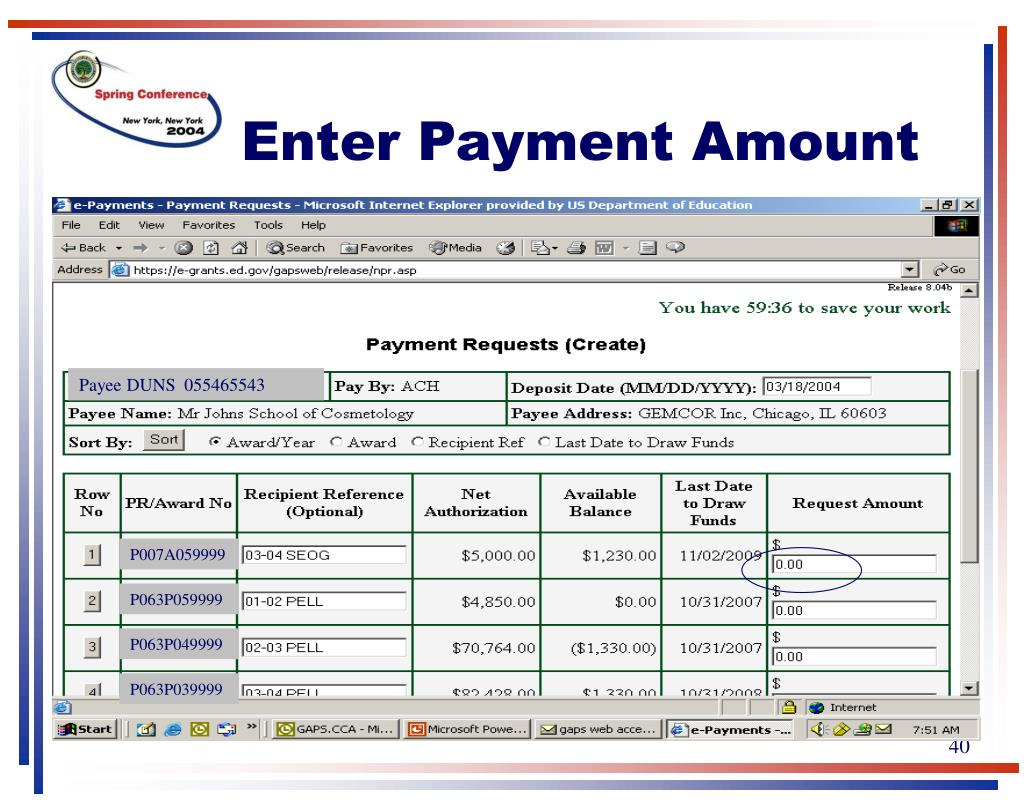 Enter Payment Amount