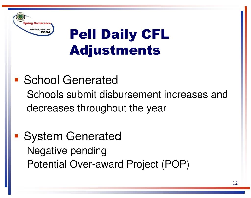Pell Daily CFL Adjustments