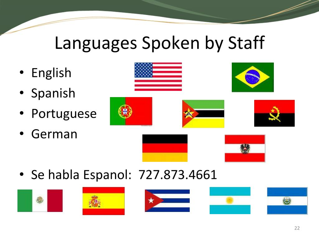 Languages Spoken by Staff