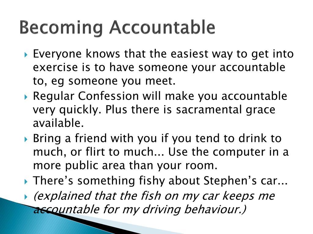 Becoming Accountable