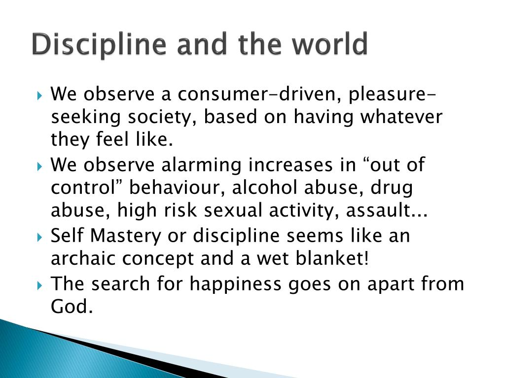 Discipline and the world