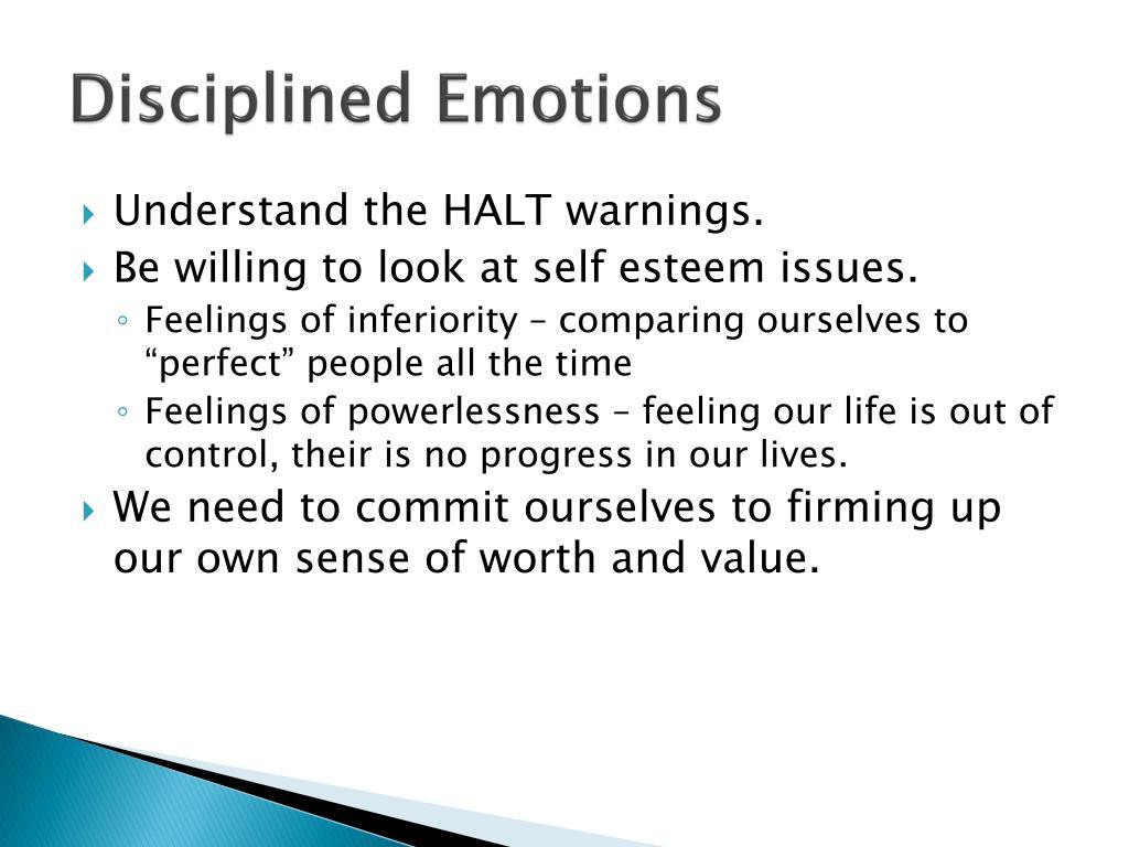 Disciplined Emotions