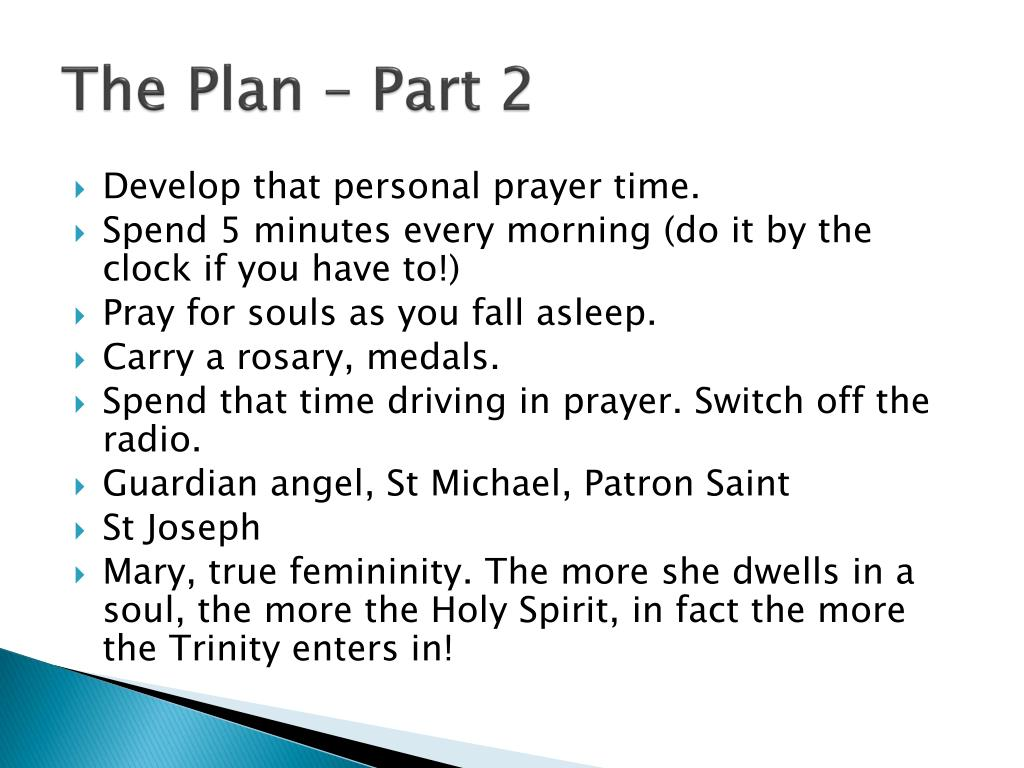 The Plan – Part 2