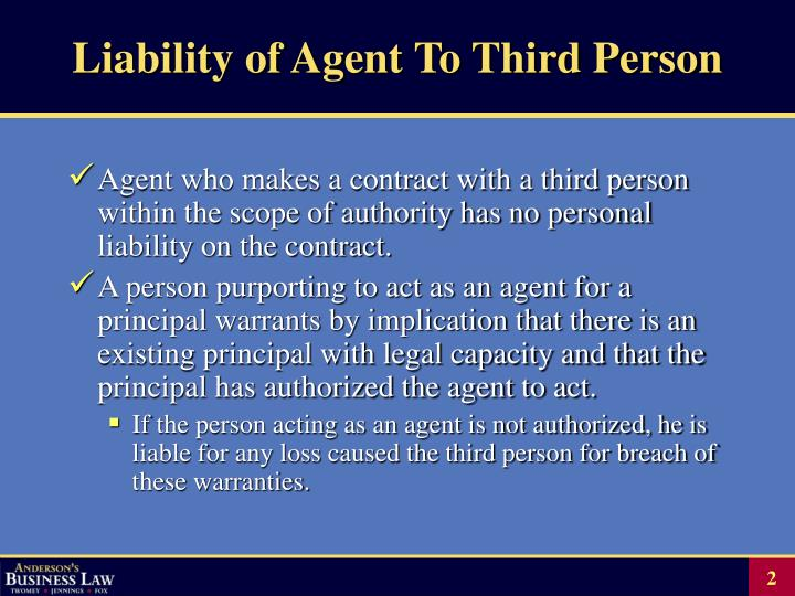 Liability of agent to third person