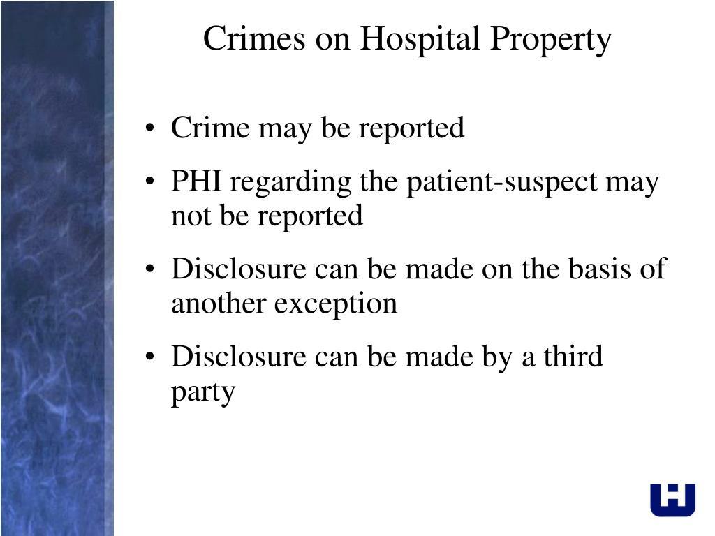 Crimes on Hospital Property