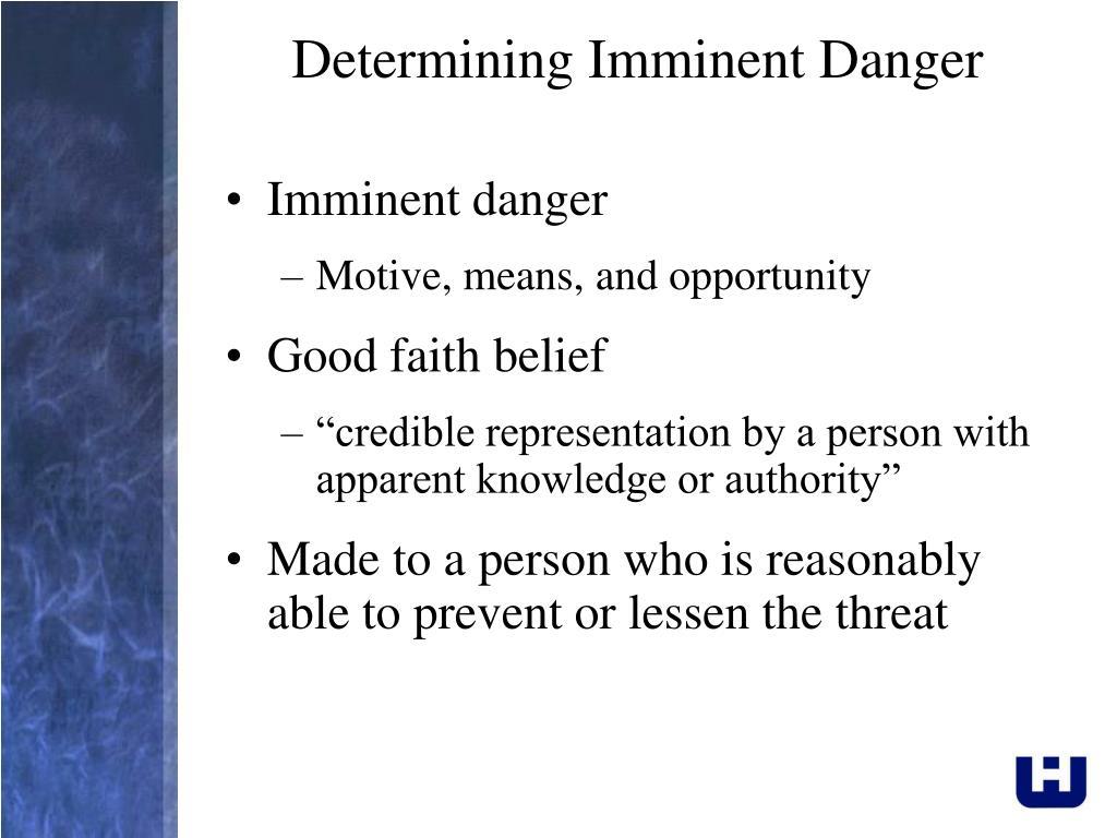 Determining Imminent Danger