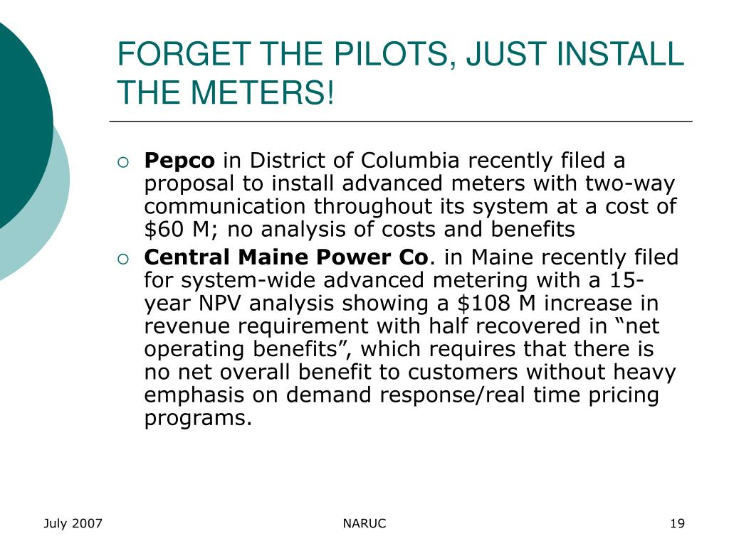 FORGET THE PILOTS, JUST INSTALL THE METERS!