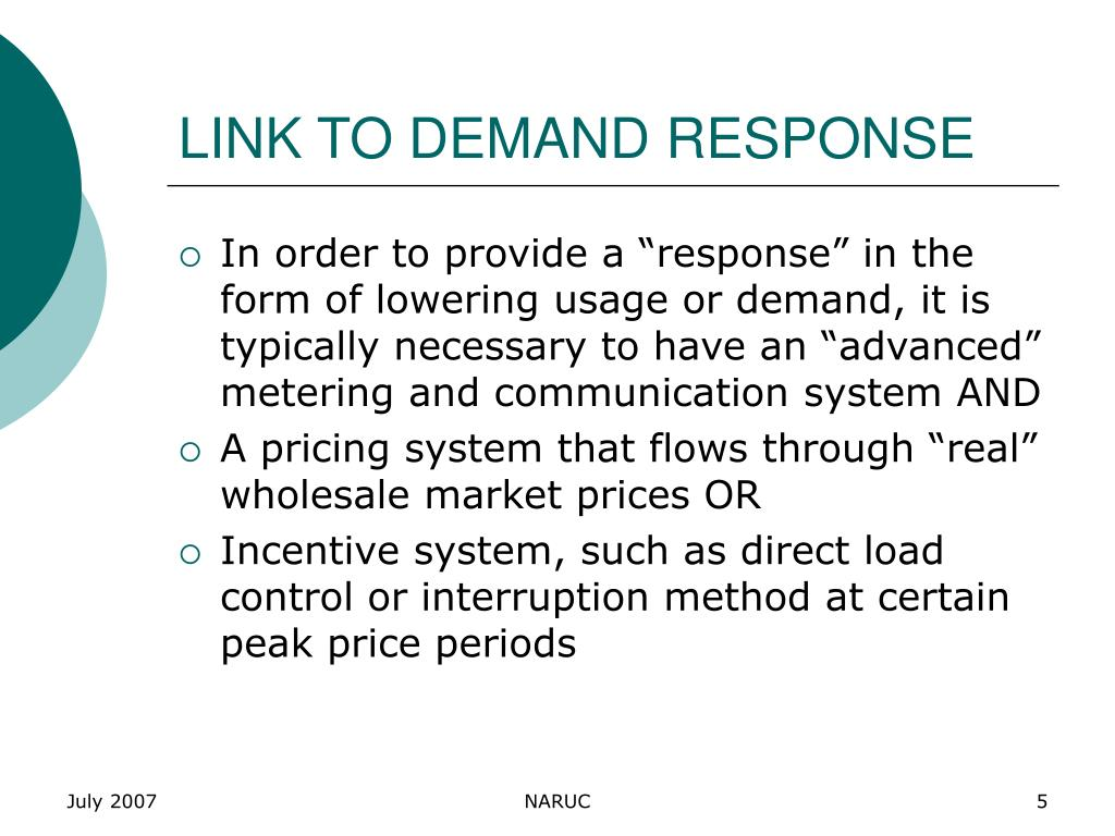 LINK TO DEMAND RESPONSE