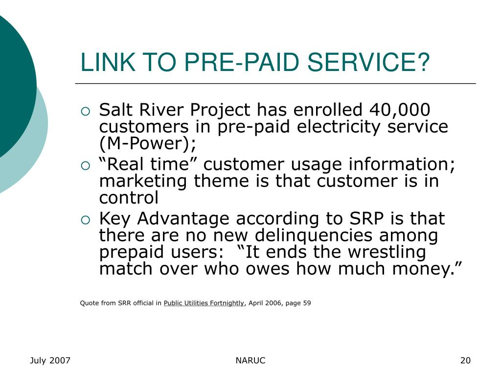 LINK TO PRE-PAID SERVICE?