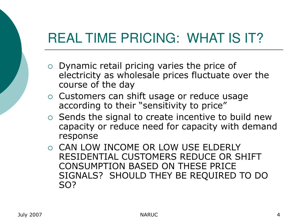 REAL TIME PRICING:  WHAT IS IT?