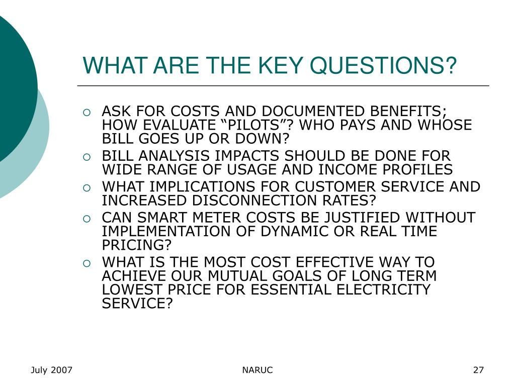 WHAT ARE THE KEY QUESTIONS?