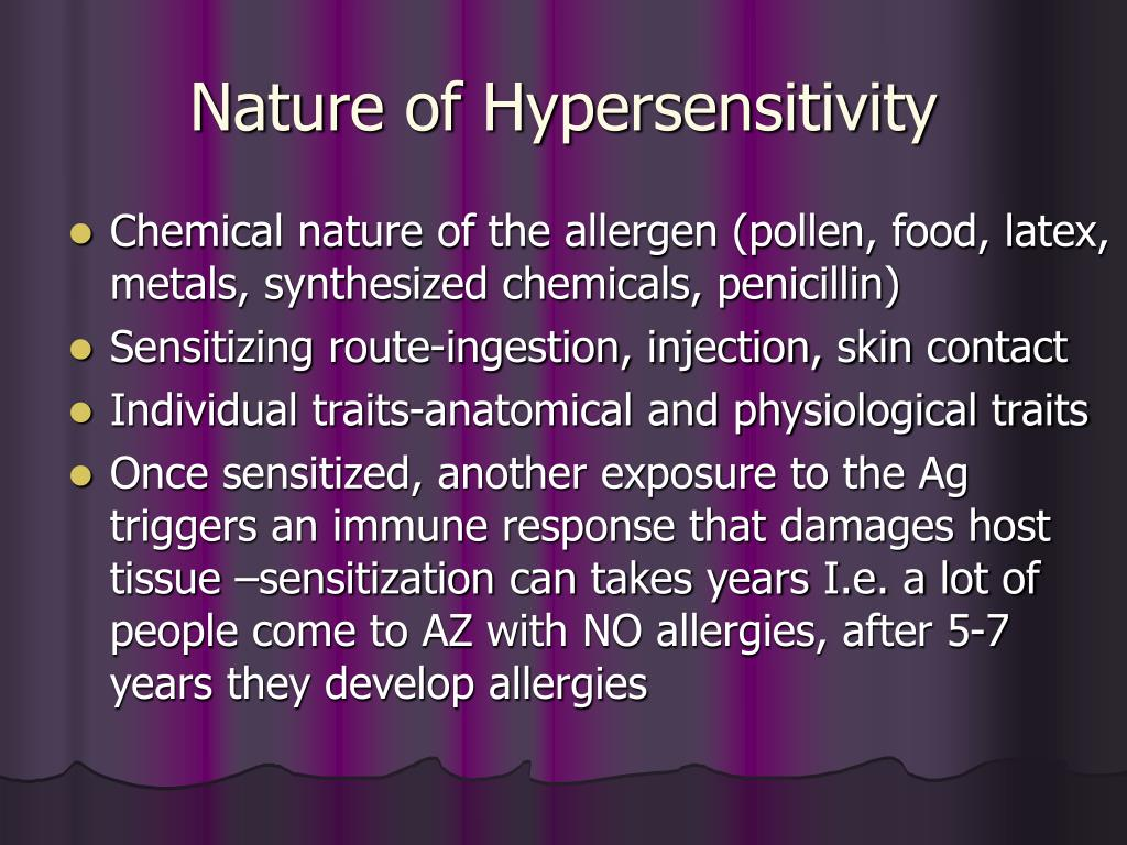Nature of Hypersensitivity