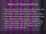 nature of hypersensitivity