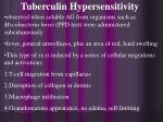 tuberculin hypersensitivity