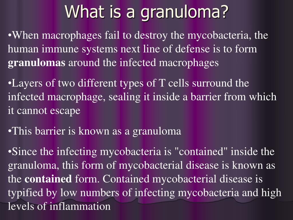What is a granuloma?
