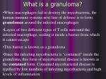 what is a granuloma