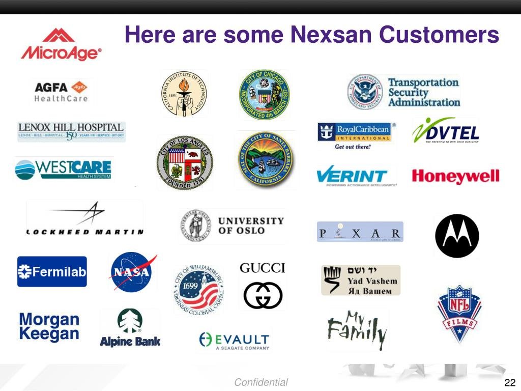 Here are some Nexsan Customers
